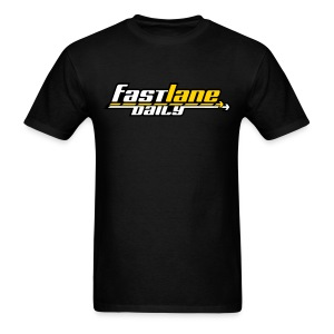 Fast Lane Daily Logo on T - Men's T-Shirt