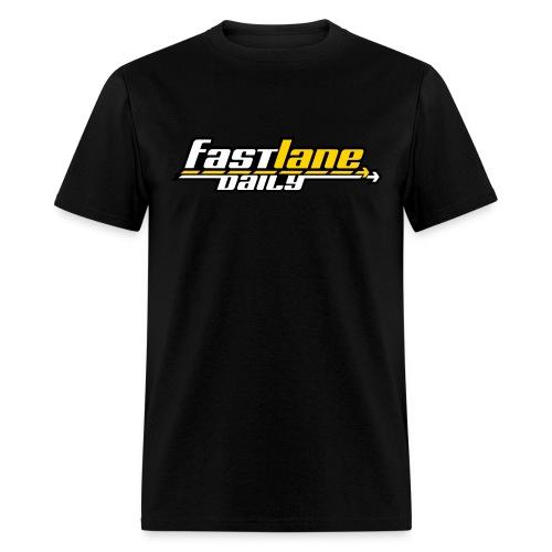 Fast Lane Daily Logo on T - Men's T-Shirt