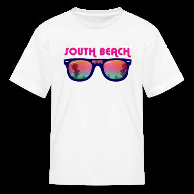South Beach Miami sunglasses Kids' Shirts