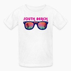 South Beach Miami sunglasses Kids' Shirts