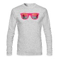 sunglasses palms and beach Long Sleeve Shirts