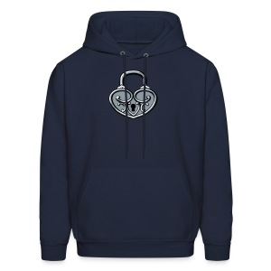 Pop My Lock 3D-Silver - Men's Hoodie