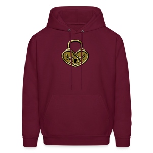 Pop My Lock 3D-Gold - Men's Hoodie