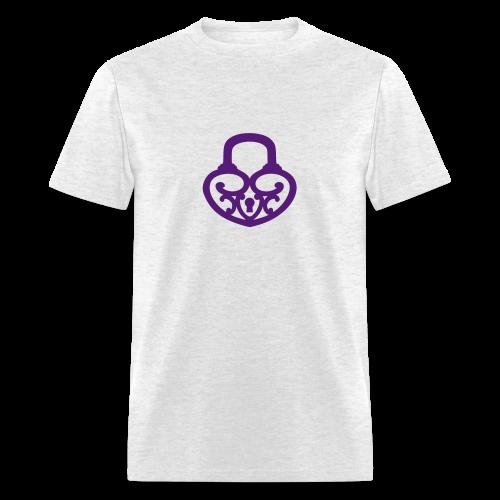Pop My Lock-Purple Glitter - Men's T-Shirt