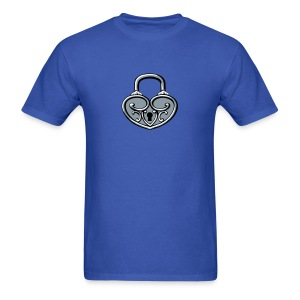 Pop My Lock 3D-Silver - Men's T-Shirt