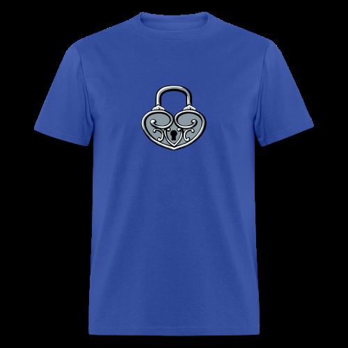 Pop My Lock 3D-Silver - Men's T-Shirt