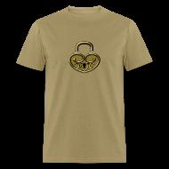 T-Shirts ~ Men's T-Shirt ~ Pop My Lock 3D-Gold
