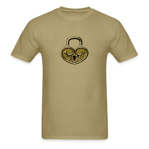 Pop My Lock 3D-Gold - Men's T-Shirt