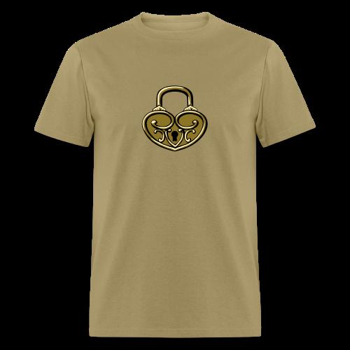 Pop My Lock 3D-Gold - Men's T-Shirt