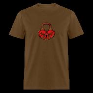 T-Shirts ~ Men's T-Shirt ~ Pop My Lock 3D-Red/Gold