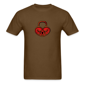 Pop My Lock 3D-Red/Gold - Men's T-Shirt