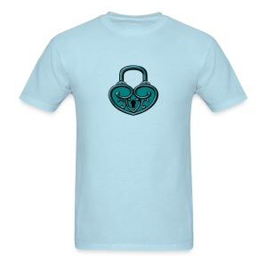 Pop My Lock 3D-Turquoise/Silver - Men's T-Shirt