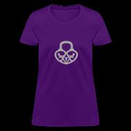 T-Shirts ~ Women's T-Shirt ~ Pop My Lock-Silver Glitter