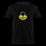 T-Shirts ~ Men's T-Shirt ~ Pop My Lock 3D-Yellow/Silver