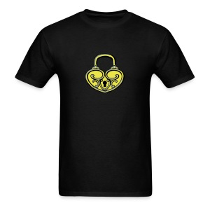 Pop My Lock 3D-Yellow/Silver - Men's T-Shirt