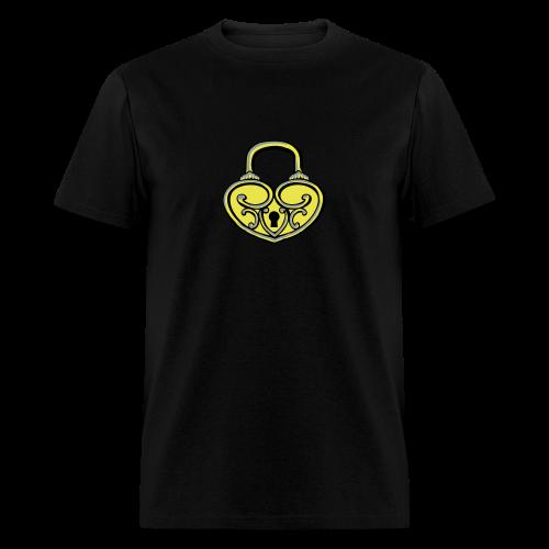 Pop My Lock 3D-Yellow/Silver - Men's T-Shirt