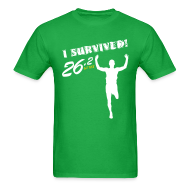 T-Shirts ~ Men's T-Shirt ~ I Survived! 26.2