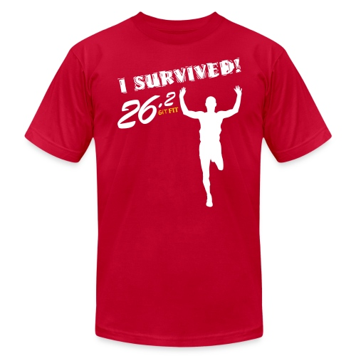 I Survived! 26.2 - Men's T-Shirt by American Apparel