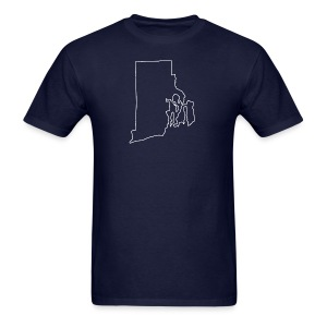 Rhode Island Outline - Men's T-Shirt
