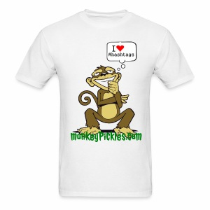 Monkey Pickles I Heart #hashtags - Men's T-Shirt