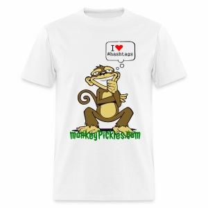 Monkey Pickles I Heart #hashtags - Men's T-Shirt