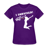 T-Shirts ~ Women's T-Shirt ~ I Survived! 42.2