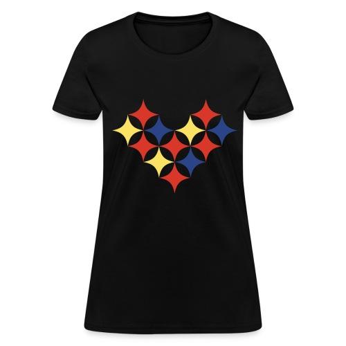 Womens Pittsburgh Heart Shirt - Women's T-Shirt