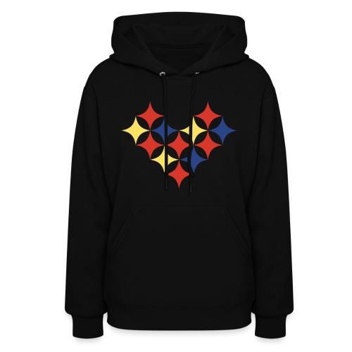Womens Pittsburgh Heart Sweatshirt - Women's Hoodie