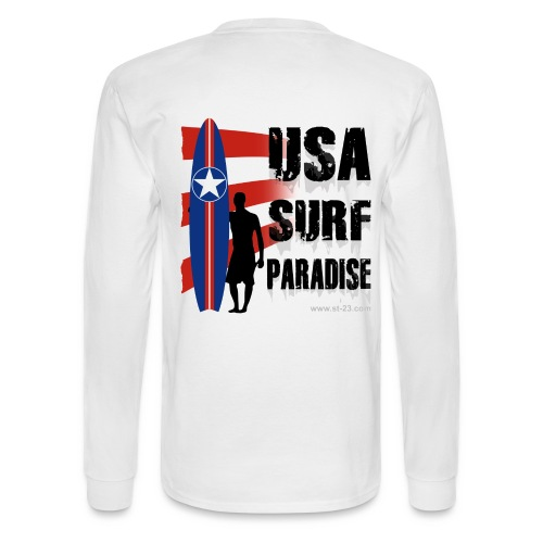 USA Surf paradise 3 - Men's Long Sleeve T-Shirt