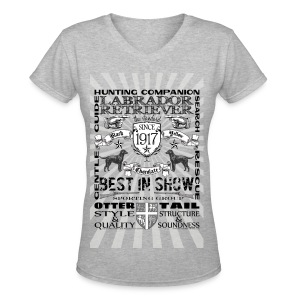 Labrador Retriever 'Best in Show' Women's Tshirt - Women's V-Neck T-Shirt