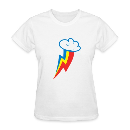 Rainbow Dash Cutie Mark F/White - Women's T-Shirt