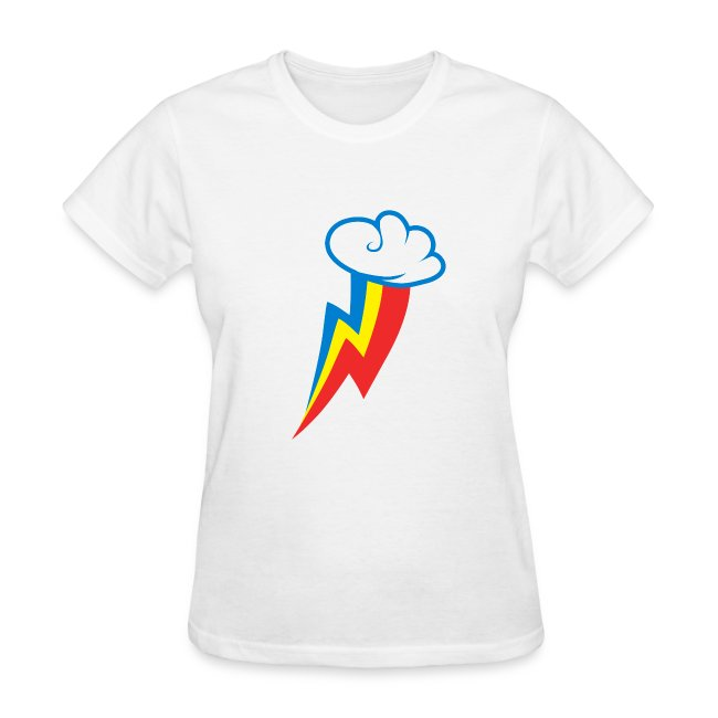 Rainbow Dash Cutie Mark F/White