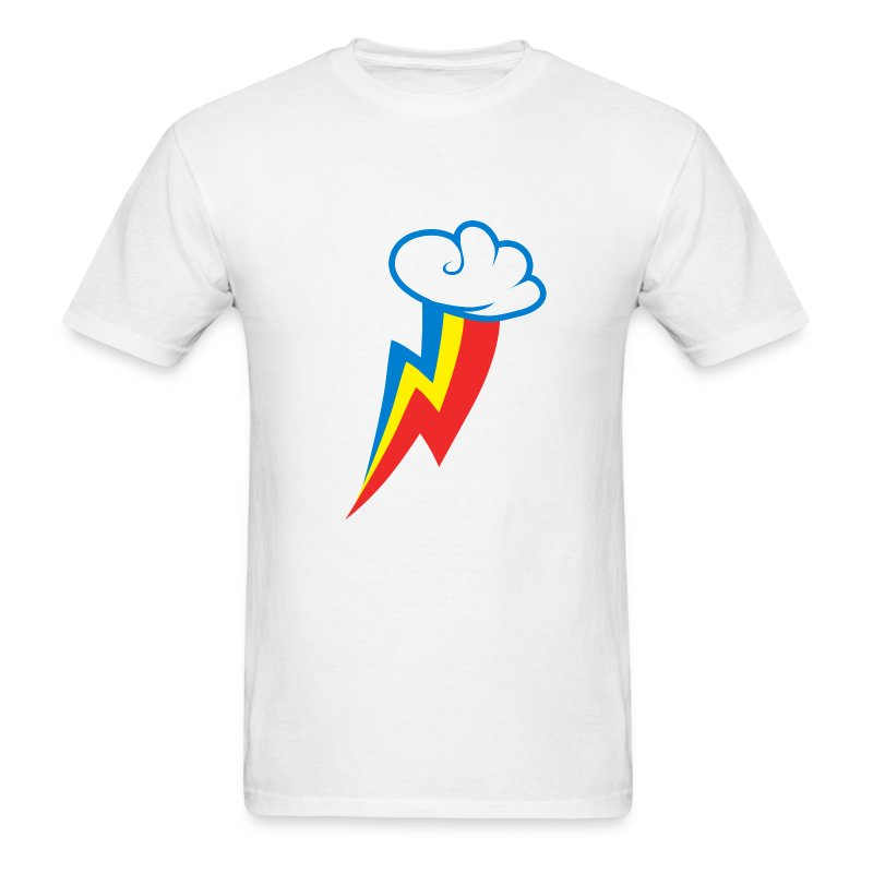 Rainbow Dash Cutie Mark M/White - Men's T-Shirt