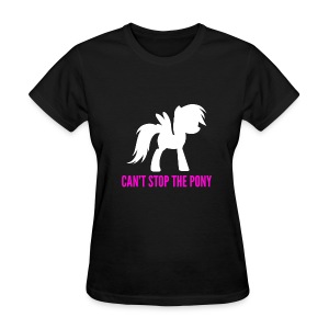 Can't Stop The Pony F/Black - Women's T-Shirt