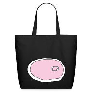 Bags & backpacks ~ Eco-Friendly Cotton Tote ~ Ham Slice Eco-Friendly Cotton Tote