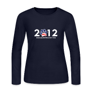 Long Sleeve Shirts ~ Women's Long Sleeve Jersey T-Shirt ~ Official Dogs Against Romney