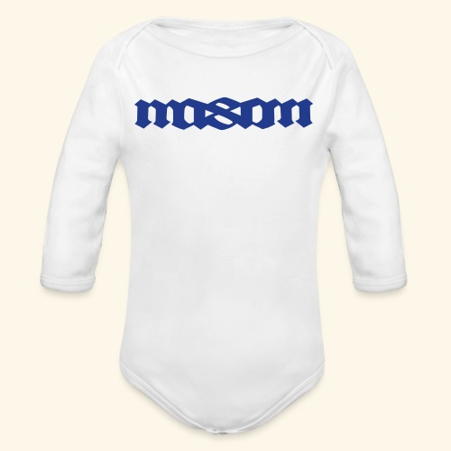 MASON POPULAR FIRST NAMES - Organic Long Sleeve Baby Bodysuit