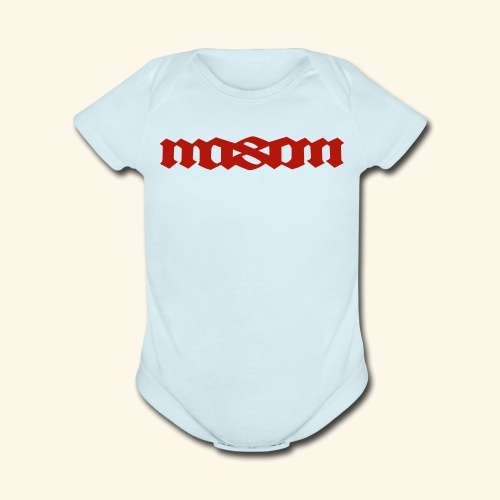 MASON POPULAR FIRST NAMES - Organic Short Sleeve Baby Bodysuit