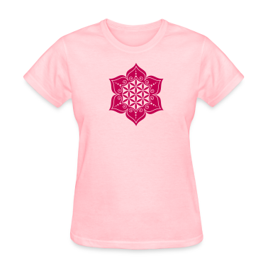 Flower of life, Lotus-Flower, vector 2, c, energy symbol, healing symbol Women's T-Shirts