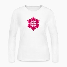Flower of life, Lotus-Flower, vector, c, energy symbol, healing symbol Long Sleeve Shirts