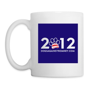 Official Dogs Against Romney 2012 Mug -  Blue - Coffee/Tea Mug
