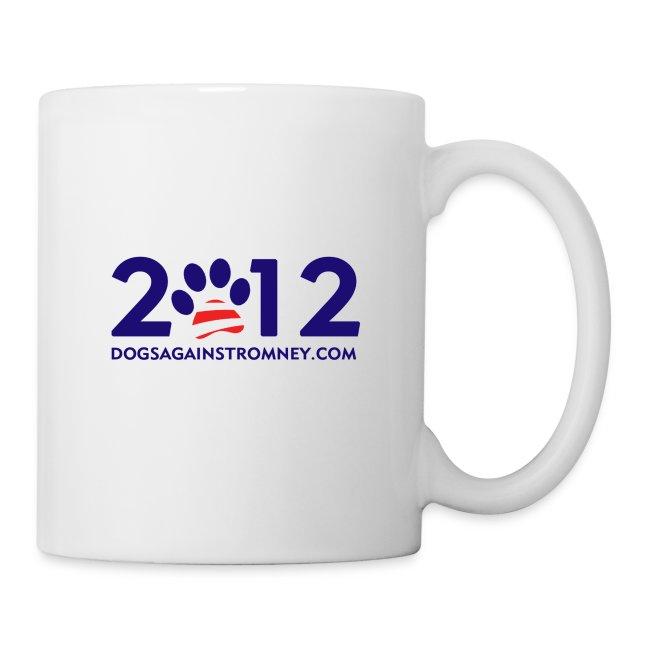 """Official Dogs Against Romney """"2012"""" Mug -  White"""