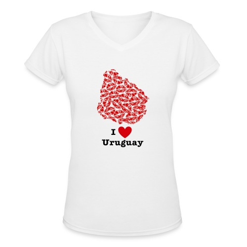 I Love Uruguay V-Neck - Women's V-Neck T-Shirt