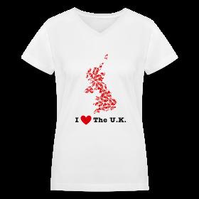 I Love The U.K. V-Neck ~ 617