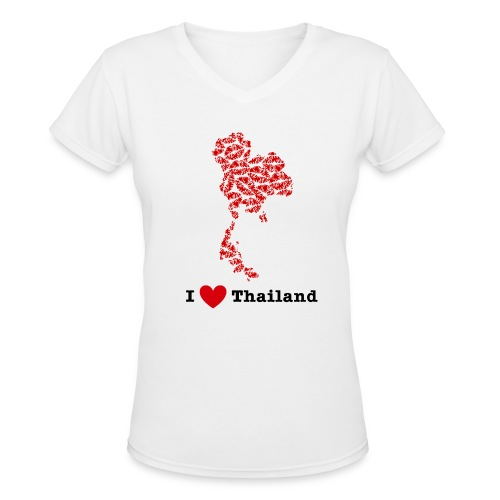 I Love Thailand V-Neck - Women's V-Neck T-Shirt