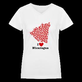 I Love Nicaragua V-Neck ~ 617