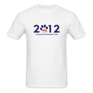 Official Dogs Against Romney 2012 Men's Tee - White - Men's T-Shirt