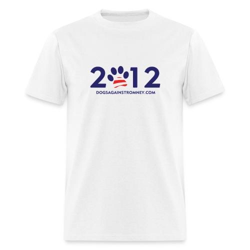 Official Dogs Against Romney 2012 Men's Tee - White - Men's T-Shirt