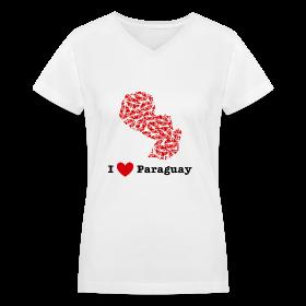I Love Paraguay V-Neck ~ 617