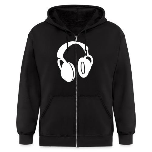 headphones dabs - Men's Zip Hoodie